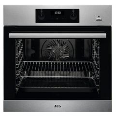 Aeg BES255011M Stailess Built In Electric Single Oven - Stainless Steel - A Energy Rated