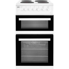 Beko EDP503W White Electric 50Cm Double Oven With Solid Plates, 58 Litre Capacity Oven, 31Litre Top