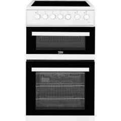 Beko EDVC503W White 50Cm Double Oven Electric Cooker - White - A/A Rated