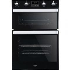 Belling BI902FPBLK Black Built In Electric Double Oven - Black - A Rated