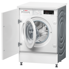 Bosch WIW28301GB White Integrated 8kg 1400 Spin Washing Machine - White - A+++ Energy Rated
