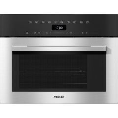 Miele DGM7340 Stainless Steel Built In Steam Oven With Microwave 45Cm High For Healthy Cooking And R