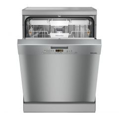 Miele G5210SC FRONT Stainless Steel Full Size Freestanding Dishwasher With Cutlery Tray