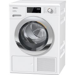 Miele TEF645WP White Heat Pump Tumble Dryer, 8Kg Load, A+++ Energy Rating,