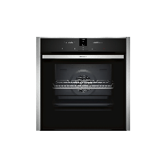 Neff B47CR32N0B Black Stainless Built In Slide And Hide Oven
