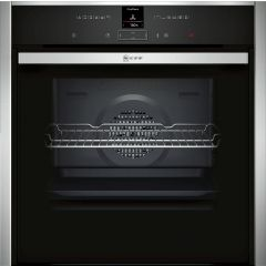 Neff B57CR23N0B Black + Silver Hide Slide Oven