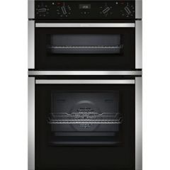 Neff U1ACE2HN0B Black + Steel Double Built In Oven