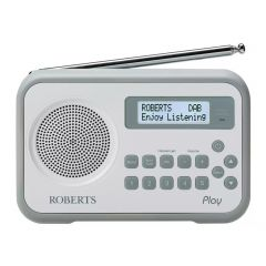 Roberts PLAY White Dab/Dab+/Fm RDS Digital Radio With Built-In Battery Charger
