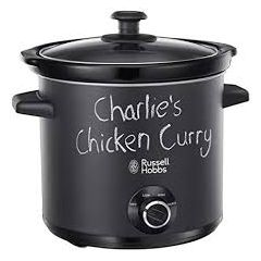 Russell Hobbs 24180 Black Chalk Board 3.5L Slow Cooker