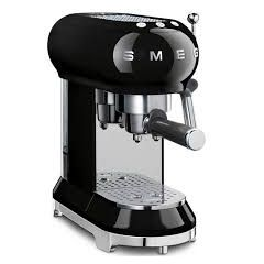Smeg ECF01BLUK Black Espresso Coffee Maker