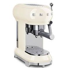 Smeg ECF01CRUK Cream 50S Style Cream Espresso Coffee Machine