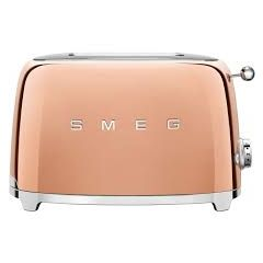 Smeg TSF01RGUK Rose Gold 2 Slice Toaster