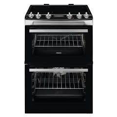 Zanussi ZCV66078WA White 60Cm Electric Double Oven With Ceramic Hob - White - A/A Rated