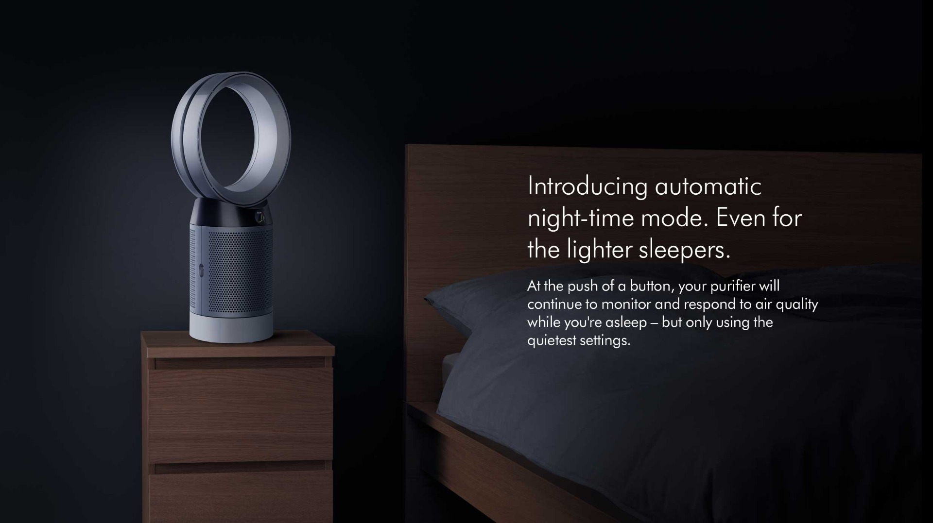 Automatic Night time mode even for lighter sleepers